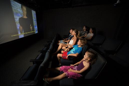 Auditorium for watch marine documentaries   Aquarium Cancún