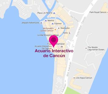 Mapa de Sitio   Aquarium Cancún